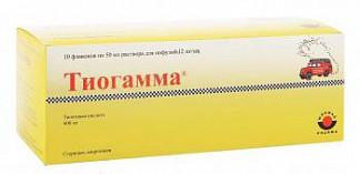 Тиогамма 12мг/мл 50мл 10 шт. раствор для инфузий