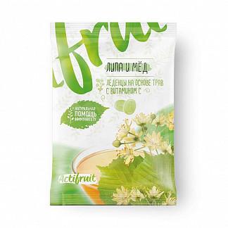 Актифрут леденцовая карамель с витамином с со вкусом липы с медом 60г