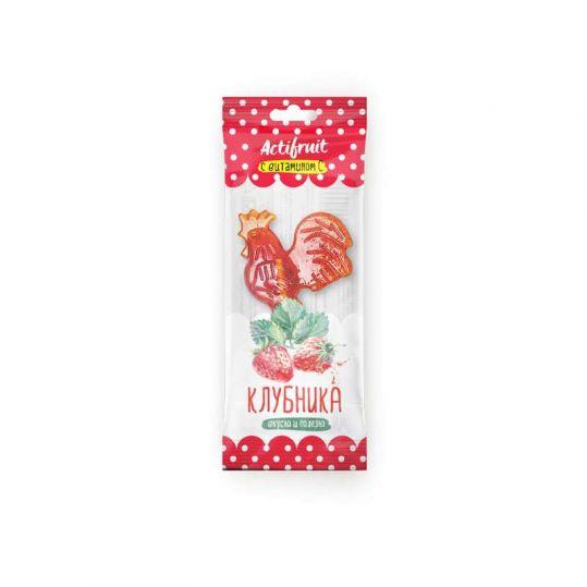 Актифрут леденцовая карамель с витамином с со вкусом клубники 17г, фото №1