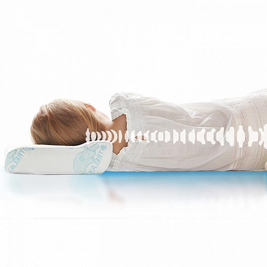 Трелакс оптима бэби подушка ортопедическая детская голубая п03, фото №3