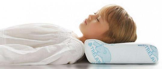 Трелакс оптима бэби подушка ортопедическая детская голубая п03, фото №4