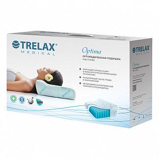 Трелакс оптима подушка ортопедическая стандартная голубая п01